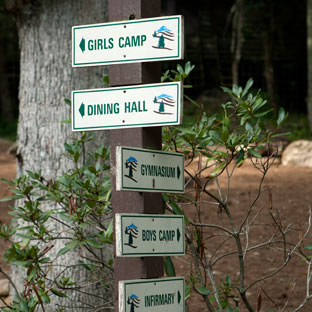 Signs at Camp Highlander