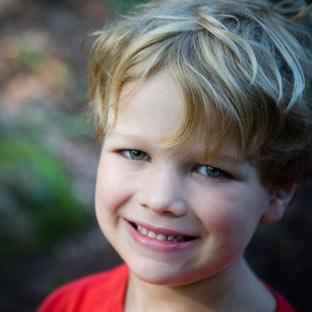 A boy at summer camp