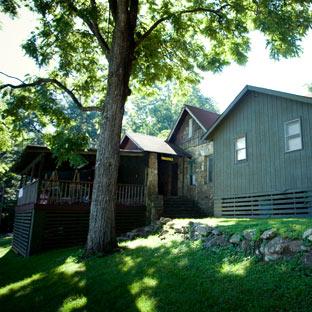 A summer camp cabin at Highlander