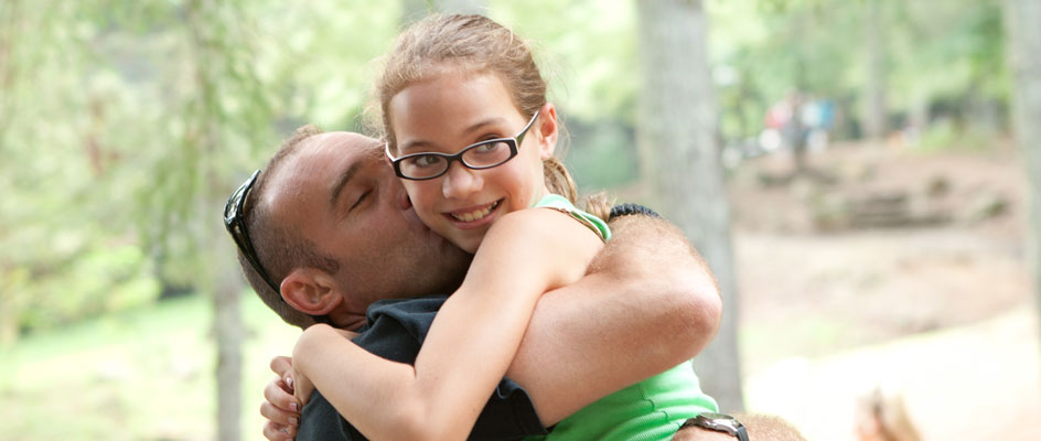 Father-and-daughter-at-camp-for-kids